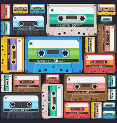 cassette-pattern-03 vector image