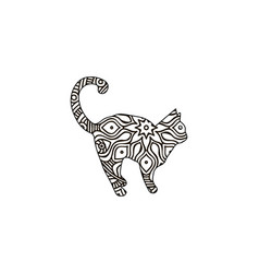 Cat coloring book for adult lover vector