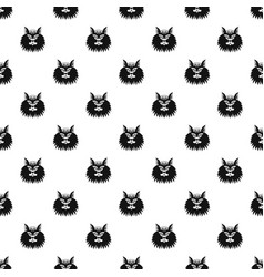 cat head pattern seamless vector image