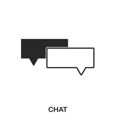 chat icon line style icon design ui vector image