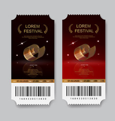 cinema tickets film festival invitations vector image