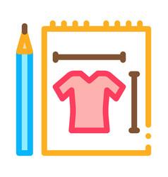 clothes sketch icon outline vector image