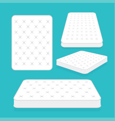 comfortable double mattress for sleeping vector image