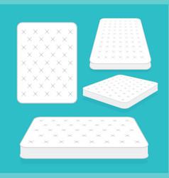 Comfortable double mattress for sleeping vector