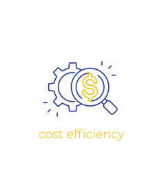 Cost efficiency linear icon vector