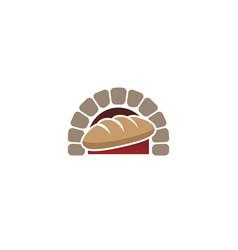 creative traditional oven bread logo design symbol vector image