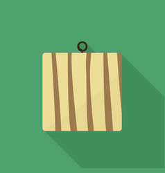 cutting board flat design vector image