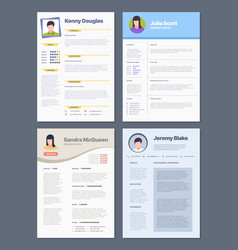 cv template corporate job resume managers design vector image