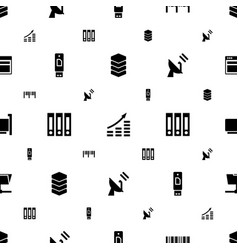 data icons pattern seamless white background vector image