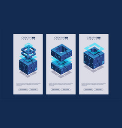 Data visualization abstract geometric elements vector