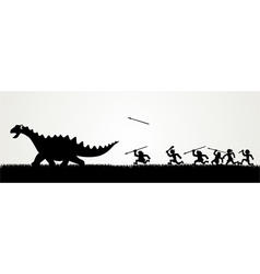 Dino Hunting vector image
