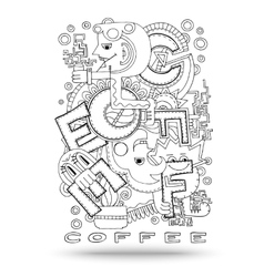 Doodle element with concept of a creative idea vector image