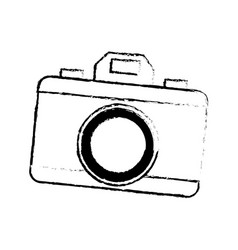 Drawing photo camera picture flash lens icon vector