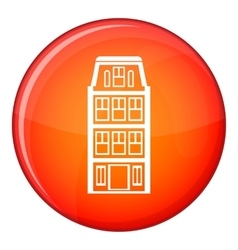 Dutch houses icon flat style vector