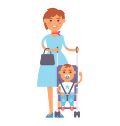 Family people adult happiness smiling mother with vector