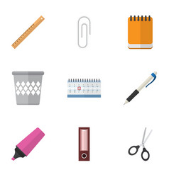 Flat icon equipment set of fastener page vector