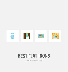 flat icon frame set of glass frame clean curtain vector image