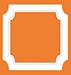 Frame template design with orange background vector