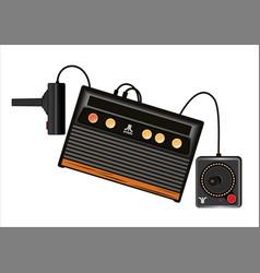 Game atari console vector