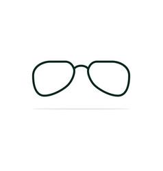 glasses icon concept for design vector image