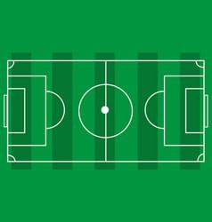 Green grass soccer football field vector