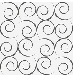 Grey spirals seamless pattern vector