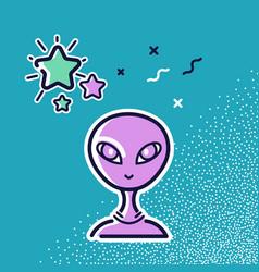 head an alien and a star vector image