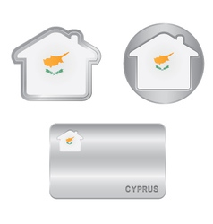 Home icon on the Cyprus flag vector image