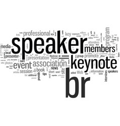 How to promote your keynote speaker vector