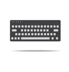 keyboard icon in trendy flat style keyboard sign vector image