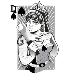 Lady with knife vector image