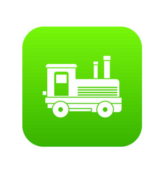Locomotive icon digital green vector