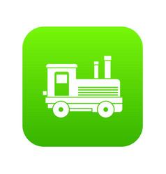 locomotive icon digital green vector image