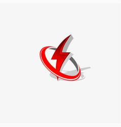 Logo flash electric energy company vector