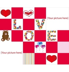 Love puzzle vector image vector image