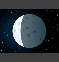 Lunar eclipse scene vector
