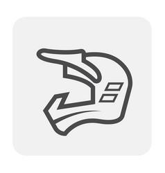 motocross helmet icon vector image