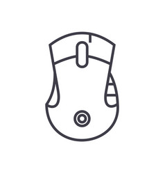 mouse line icon sign o vector image vector image