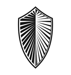 New shield simple icon vector image