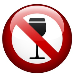 no alcohol mark vector image