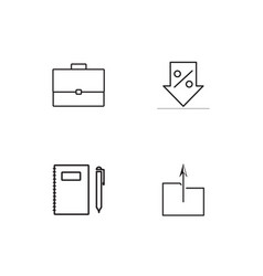 Office linear icons set simple outline icons vector