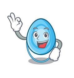Okay oxygen mask character cartoon vector