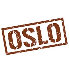 Oslo brown square stamp vector image