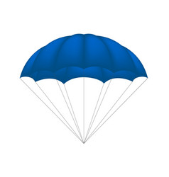 parachute in blue design vector image