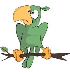 Parrot cartoon vector