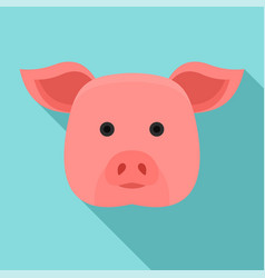 pig head icon flat style vector image