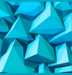 Poster with abstract blue ice cubes vector