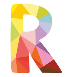 r colorful letter isolated on white background vector image