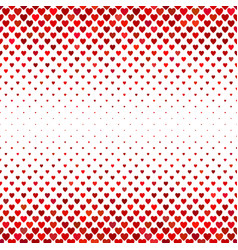 Repeating red heart background pattern design vector