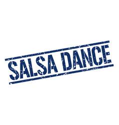 Salsa dance stamp vector